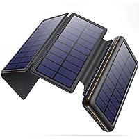 iPosible Solar Powerbank 26800mAh mit 4 Faltbar Sonnenkollektoren und 2 USB-Ausgang Externer Akku Tragbare…