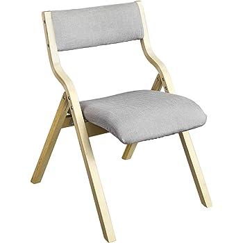 SoBuyR FST40 HG Chaise Pliante En Bois Avec Assise Rembourree Pliable Pour