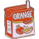 Orange Juice Badge Pin Kawaii Anime Manga Aesthetics Accessorio