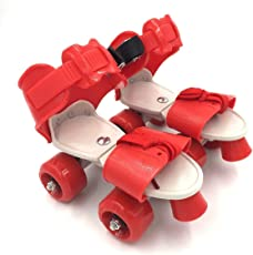 Tavakkal® Roller Skates for Kids Age Group 5-10 Years Adjustable Inline Skating Shoes (Red)
