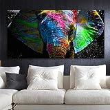 ZEMER 1 Pi/èce Impression Abstraite Cerf Color/é Peinture /à lhuile Impressions sur Toile pour Home Office Restaurant Decor sans Cadre,L
