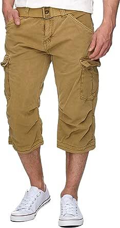 Indicode Uomo Nicolas Pantalonicini Cargo Check 3/4 a Quadri con 6 Tasche incl. Cintura 100% Cotone | Corto Pantalone Estate Pantaloncini per Uomo Men Pants Short