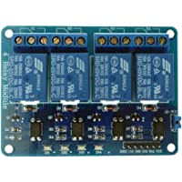 Generic(Unbranded)4-Channel Relay Control Board Module With Optocoupler, 4 Way Relay Module for Arduino