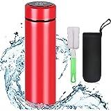 flintronic Bottiglia Acqua, Borraccia Termica 500ML Coppa da Viaggio, Tazza Intelligente LCD Temperatura Display Touch…