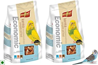Vitapol Economic Food for Budgies Bag, with Vitamin-Fortified Formula, Provides Minerals, Vitamins & Proper Growth of Birds, 2.4 KGs (2 Pack of 1200 GMS)