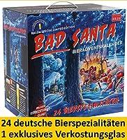 Kalea Bier-Adventskalender 2019   Edition Bad Santa   24 Deutsche Bier-Spezialitäten und 1 exklusivem Verkostungsglas  ...