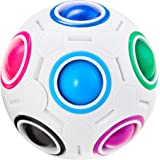 Vdealen Magic Rainbow Puzzle Ball, Speed Cube Ball Puzzle Game Fun Stress Reliever Magic Ball Brain Teaser Fidget Toys for Ch