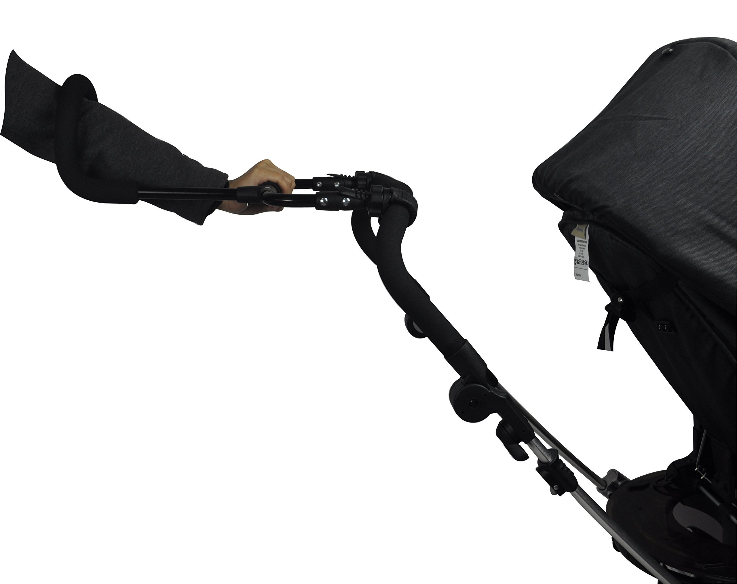 Englacha Cozy Stroll Handle Extension Bar, Black Englacha USA Universal lightweight handle extension bar (aluminum tube) can be installed on any buggy, stroller or pram without extra tools required Allows you control your stroller with just one hand and multitask with your free hand Increases extra at least 12-15 cm space for walking in the back of stroller 5