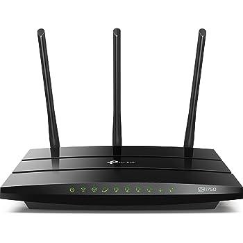 TP-Link Archer C7 5-Gigabit Ports Dualband AC1750 WLAN WiFi Router (1300Mbit/s 5GHz + 450Mbit/s 2.4GHz, 2-USB 2.0, für Anschluss an Kabel/DSL/Glasfasermodem, VPN, Print/Media Server, AccessPoint)