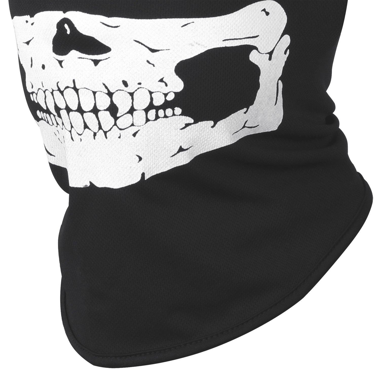 SKULL Stampa Morbida Nero Cappello Adulti Halloween Costume Accessorio