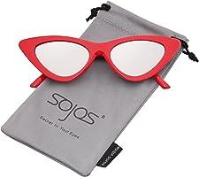 SOJOS Occhiali di Protezione Occhiali da Sole da Donna Occhio di Gatto Retro Vintage Stile SJ2044