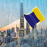 Antson Magnetic Window Cleaner Double-Side Glazed Two Sided Glass Cleaner Wiper with 2 Extra Cleaning Cotton Cleaner Squeegee