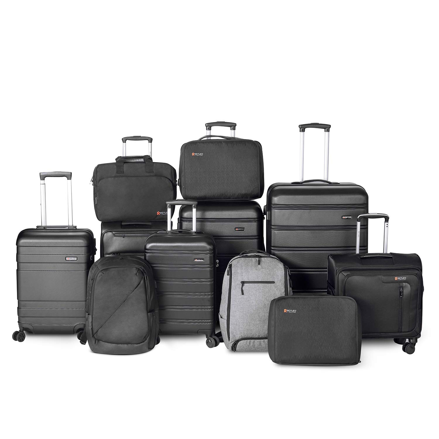 ee400b29398e REYLEO Executive Laptop Roller Cases Lightweight Briefcase Rolling Laptop  case with Padded Laptop Compartment Fits 14-17 inch Laptops 8 Wheels,Black  - ...