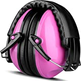 Casque Antibruit Enfant ECHTPower Casque à Réduction du Bruit sans Fil de Haute Sécurité Casque Auditive Pliable SNR 25dB avec Mousse Souple- Rose