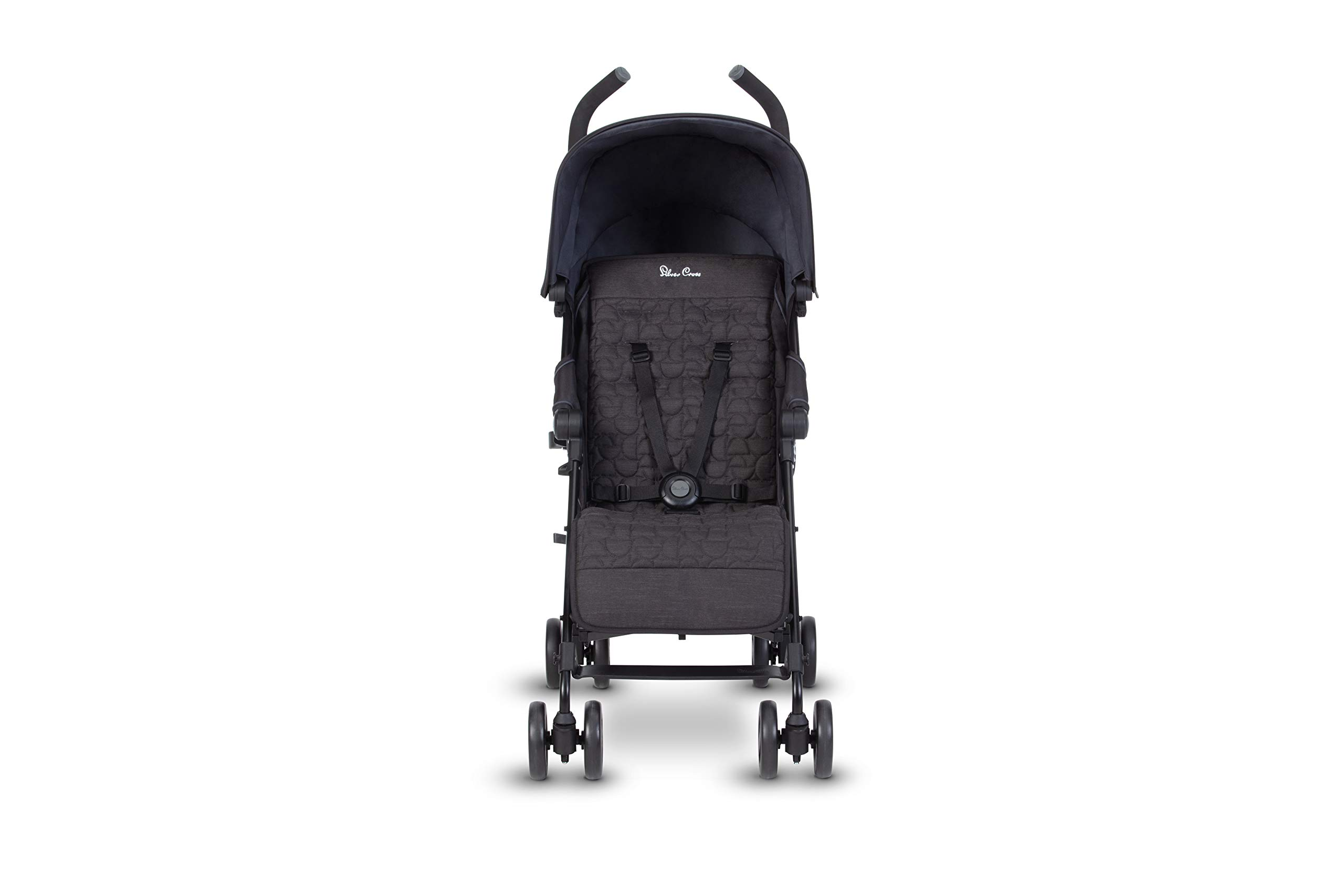 Silver Cross Zest Charcoal Black Silver Cross Ultra lightweight zest pushchair, weighing in at only 5.8kg, is suitable from birth up to 25kg It has a convenient one-hand fold, while the compact design makes it easy to store The fully lie-flat recline is best in its class 4