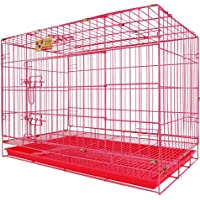 Lovely PET'S Kingdom-Double Door Folding Metal cage with Removable Tray and paw Protector for Dogs,Cats and Rabbits 30…