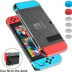 Custodia Nintendo Switch - Younik Case Anti Graffio Super Sottile ed Utilizzabile Nel Dock con 6 Copri Analogico, per Ninetendo Switch e Controller Joy-Con per Ninetendo Switch