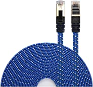 DanYee Ethernet Cable Cat 7 Flat High Speed Nylon Lan Network Patch Cable Gold Plated Plug STP Wires CAT 7 RJ45 Ethernet Cabl
