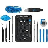 iFixit Pro Tech Toolkit, Juego de Herramientas con 64 puntas de precisión (4 mm) y mango destornillador para reparar moviles,