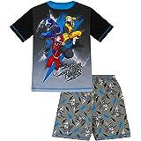 Power Rangers Pijama corto de acero Ninja para niños de 3 a años