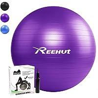 Reehut Anti-Burst Gymnastikball + Pumpe mit Belastbarkeit bis zu 500kg Core-Training Fitness Yoga Pilates Ball - 55 65 75 cm
