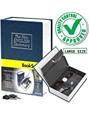 Prifix Book Safe Dictionary Style Iron Locker Jewellery Home Hidden Box (Random Colour, Standard Size)