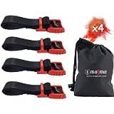 MAGMA 4 Cinghie di Ancoraggio Cinghia per Fissaggio del Carico Bici Portapacchi, Kayak, Moto e Auto | Set di 4 Cinghie…