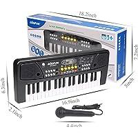 Toyshine Kids Piano Keyboard 37 Keys- Multi-Function Portable Piano Keyboard Electronic Organ with Charging Function