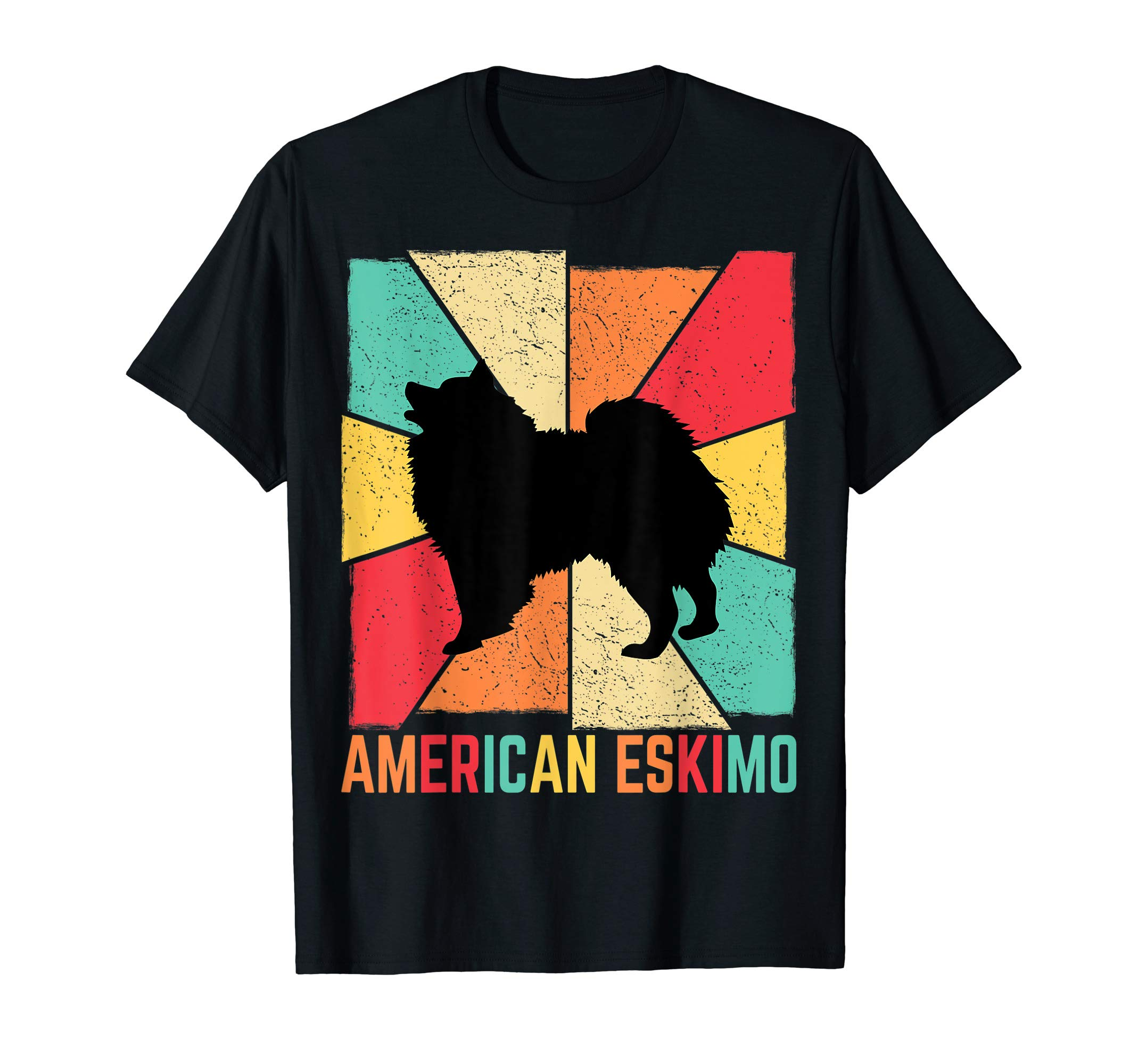 Vintage Retro Love Best American Eskimo Dog Ever Owner Gift T-Shirt