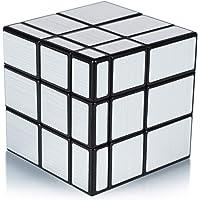 Maomaoyu Mirror Cube 3x3 3x3x3 Miroir Magique Speed Magic Cube Puzzle Ultra Rapide (Argenté)