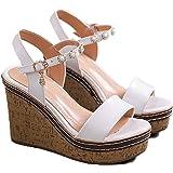 Sandali da Donna Tinta Unita in Rilievo con Cinturino alla Caviglia con Cinturino alla Caviglia con Cinturino alla Caviglia A