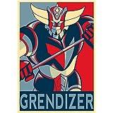 Fabulous Poster Affiche Goldorak Couleur Hero Manga Robot Dessin Anime
