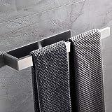 Lolypot Handdoekhouder zonder boren, zelfklevende handdoekstang, 304 roestvrij staal, handdoekring, badhanddoekhouder, 35 cm