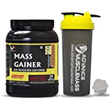 Advance MuscleMass Mass Gainer with Enzyme Blend | 7.15 G Protein | 23.46 G Carbs | Lab tested | Made from Whey Protein only