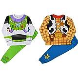 2 Sets Boys Kids Toy Story Sheriff Woody & Buzz Lightyear Novelty Dress Up Costume Pyjamas
