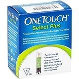 Tiras para medir el nivel de glucosa en sangre, OneTouch Select, paquete de 50