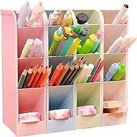 4Pcs Portapenne da Scrivania,Portapenne Multifunzione,Scrivania-Portapenne-Organizer,Organizzatore da Scrivania for Home…