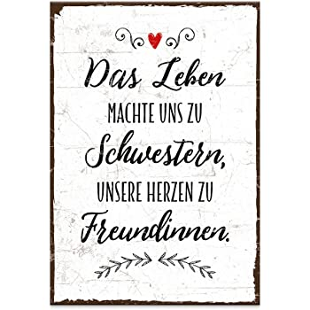xl shabby vintage schild dekoschild schwester holzschild geschenk weihnachten geburtstag. Black Bedroom Furniture Sets. Home Design Ideas