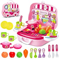 Crown Deals® Little Chef Kitchen Set for Kids in Chef Carry case - Role Play Fun Toys Gift for Boys Girls Age 3 Years…