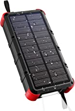 [Quick Charge] OUTXE 20000mAh Rugged Solar Charger 4A Dual Input (Type C and USB)
