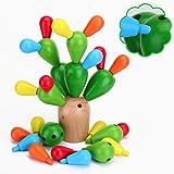 EKKONG Jouet Puzzle Enfant Bois ,Jeu Montessori 1 2 3 4 Ans, Jouet Cactus Enfants ,Créatif Montessori Blocs, Jouets Educatifs