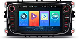 Xtrons 7 Inch Android 10 Car Radio With Touchscreen Quad Core Multimedia Player Car Stereo Support 4g Full Rca Output 16gb Rom Dab Obd2 For Ford Black