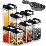 Pojemniki do przechowywania żywności, 7-częściowy zestaw, pojemniki na zapasy z hermetyczną pokrywką, pojemniki na żywność z