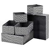 Puricon (8 Set) Clothes Organizers Dresser Drawer Organization, Foldable Closet Organizer Underwear Basket Cubes Containers f