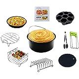 Accessoires pour friteuses à Air Ensemble de 10 Pièces de 8 Pouces Avec Revêtement Antiadhésif, Adapté aux Accessoires de Fri