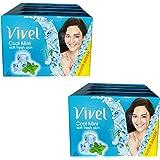 VIVEL cool mint soft skin soap 100 gm each pack,8 SOAP