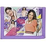 Disney Violetta, plånbok portmonnä (S036), barn flicka, lila, 12,5 x 9,5 x 1 cm
