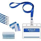 Gimars Porta ID Badge da Collo Orizzontale Impermeabile e Trasparente con Cordino e PortaPass Carte per Uso da…
