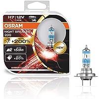 OSRAM NIGHT BREAKER 200, H7, +200% mehr Helligkeit, Halogen-Scheinwerferlampe, 64210NB200-HCB, 12V PKW, Duo Box (2…