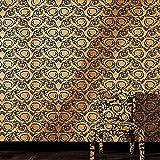 Versace 'Floral Damas' papier peint Design Doré et Noir Rouleau complet